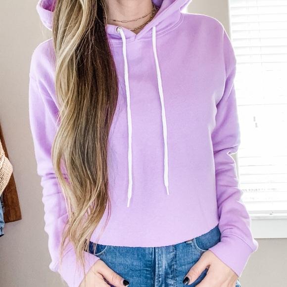 Lavender cropped sweatshirt